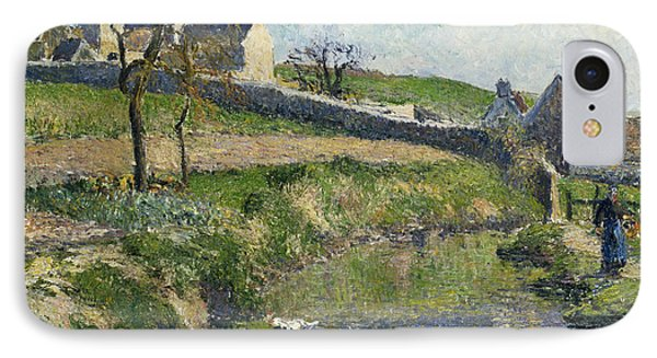 The Farm At Osny IPhone Case by Camille Pissarro