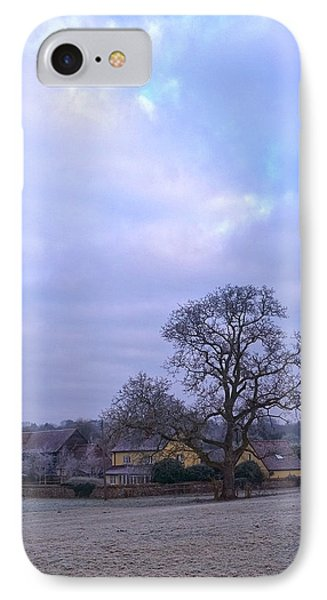The Farm In Winter IPhone Case by Anne Kotan