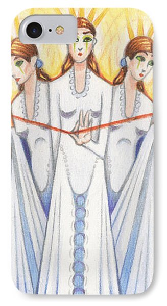 The Fates Phone Case by Amy S Turner
