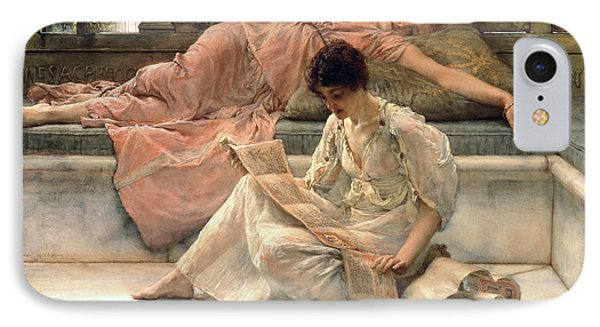 The Favourite Poet Phone Case by Sir Lawrence Alma-Tadema