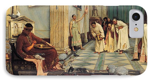 The Favourites Of The Emperor Honorius IPhone Case by John William Waterhouse