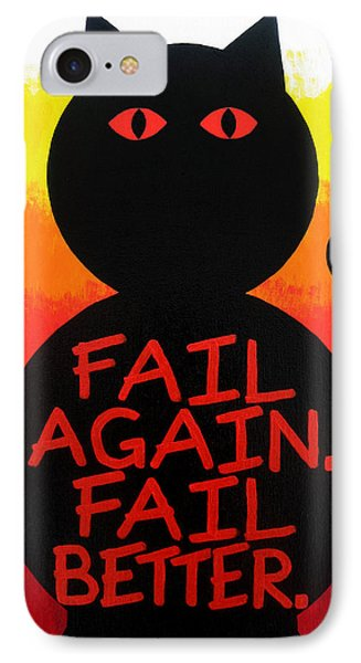 The Fearline Of Failure Phone Case by Oliver Johnston