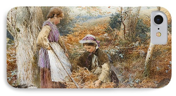 The Fern Gatherers IPhone Case by Myles Birket Foster