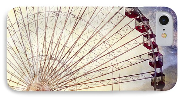 The Ferris Wheel At Navy Pier IPhone Case by Mary Machare