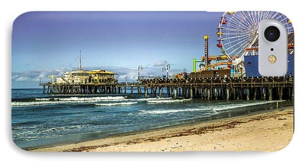 The Ferris Wheel - Santa Monica Pier IPhone Case