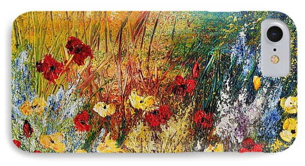 IPhone Case featuring the painting The Field by Teresa Wegrzyn