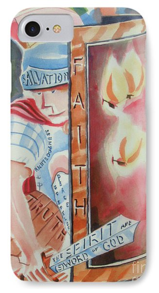 IPhone Case featuring the painting The Fiery Darts Of The Evil One 2 by Kip DeVore