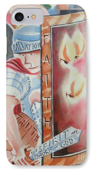 IPhone Case featuring the painting The Fiery Darts Of The Evil One by Kip DeVore