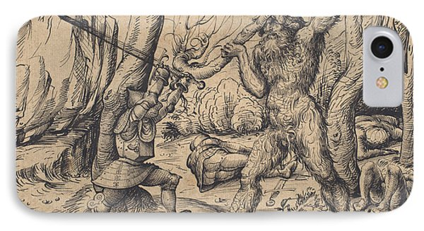The Fight In The Forest IPhone Case by Hans Burgkmair I