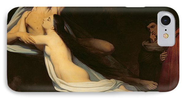 The Figures Of Francesca Da Rimini And Paolo Da Verrucchio Appear To Dante And Virgil IPhone Case