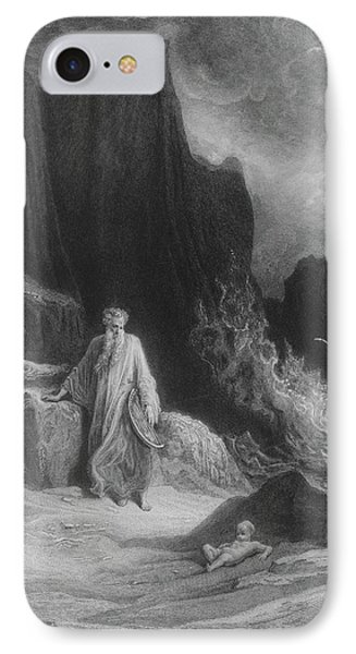 The Finding Of King Arthur IPhone Case by Gustave Dore