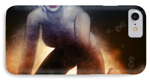 The Fire Girl IPhone Case by Joaquin Abella