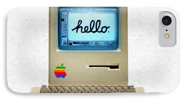 The First Apple Computer Painting IPhone Case by Tony Rubino