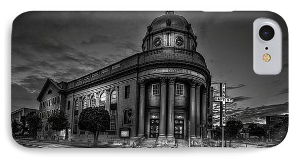 The First Baptist Church Of Tampa Bw IPhone Case