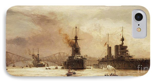The First Battle Squadron Leaving The Forth For The Battle Of Jutland IPhone Case by William Lionel Wyllie