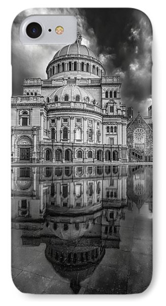 The First Church Of Christ Scientist Bw IPhone Case