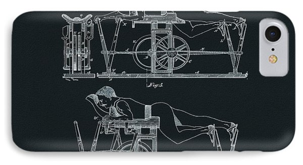 The First Exercise Machine Illustration IPhone Case by Dan Sproul