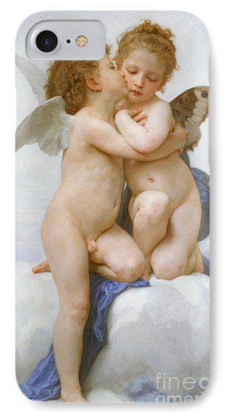 The First Kiss  IPhone Case by William Adolphe Bouguereau