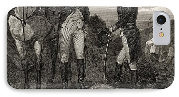 The First Meeting Of George Washington And Alexander Hamilton IPhone Case