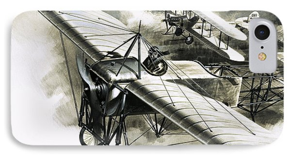 The First Reconnaissance Flight By The Rfc IPhone 7 Case by Wilf Hardy