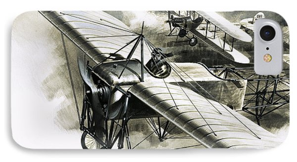 The First Reconnaissance Flight By The Rfc IPhone Case by Wilf Hardy