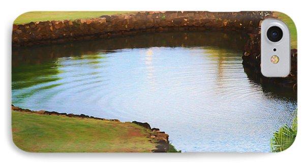 The Fish Pond Phone Case by Bonnie Follett