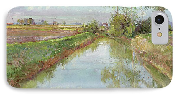 The Fish Pool, Autumn IPhone Case by Timothy Easton