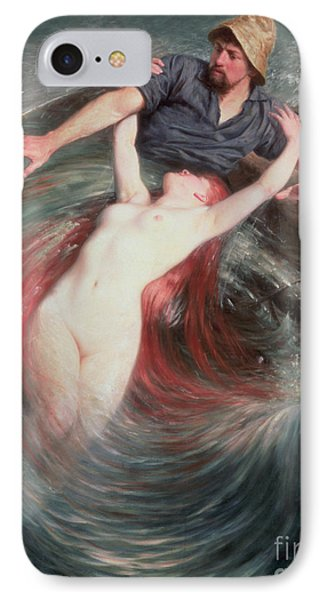 The Fisherman And The Siren IPhone Case by Knut Ekvall