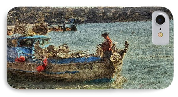 The Fisherman Of Sausalito IPhone Case by Dev Das