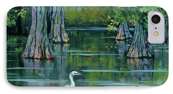 Heron iPhone 7 Case - The Fisherman by Dianne Parks