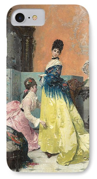 The Fitting IPhone Case by Alfred Emile Stevens
