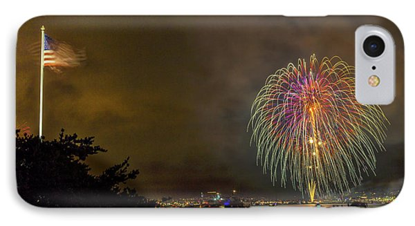 The Flag Flies IPhone Case by Peter Tellone