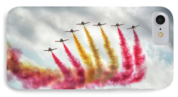 The Flag Of Spain At The Malta Airshow IPhone Case by Stephan Grixti