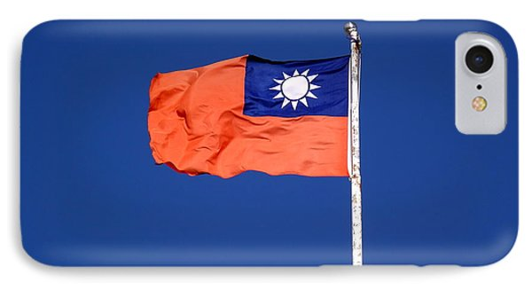 IPhone Case featuring the photograph The Flag Of Taiwan by Yali Shi