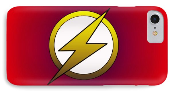 The Flash  IPhone Case by Justin Moore