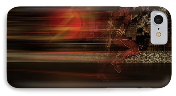 IPhone Case featuring the digital art The Flash  by Louis Ferreira