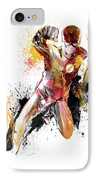 The Flash IPhone Case by Unique Drawing