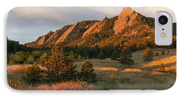 The Flatirons - Autumn IPhone Case by Aaron Spong