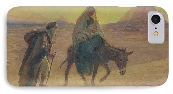 The Flight Into Egypt  IPhone Case by Eugene Alexis Girardet