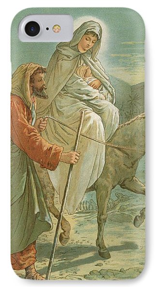 The Flight Into Egypt IPhone Case by John Lawson