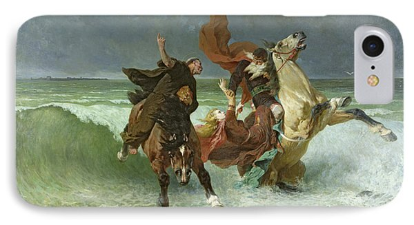 The Flight Of Gradlon Mawr IPhone Case by Evariste Vital Luminais