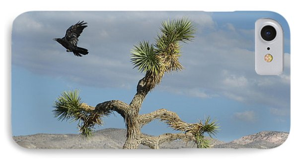 IPhone Case featuring the photograph The Flight Of Raven. Lucerne Valley. by Ausra Huntington nee Paulauskaite