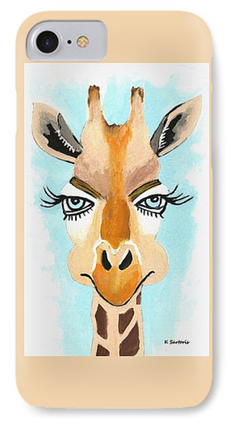 IPhone Case featuring the painting The Flirt by Kathleen Sartoris