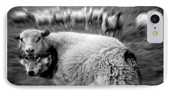 The Flock Is Safe Grayscale IPhone Case by Marian Voicu