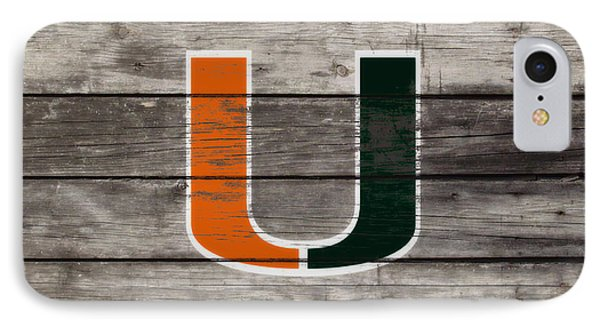 The Miami Hurricanes 3h      IPhone Case by Brian Reaves