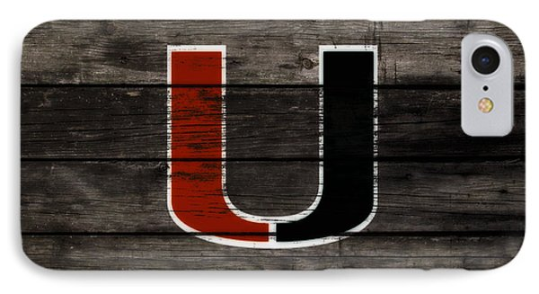 The Miami Hurricanes 3e       IPhone Case by Brian Reaves