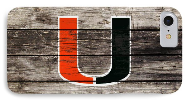 The Miami Hurricanes       IPhone Case by Brian Reaves