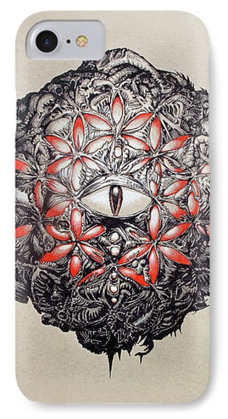 The Flower Of Life IPhone Case by Will Shanklin