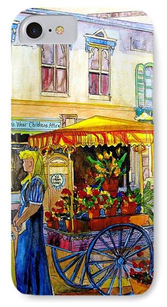 The Flowercart Phone Case by Carole Spandau