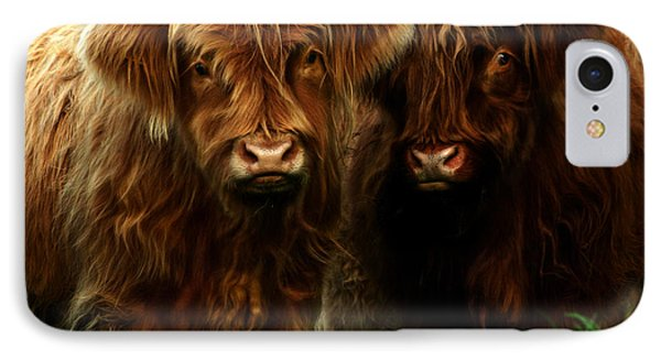 The Fluffy Cows IPhone Case by Angel  Tarantella
